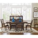 Kincaid Furniture Bedford Park 7 PcTrestle Table and Surrey Chairs Set - Item Number: 74-054P+2X74-062+4X74-061
