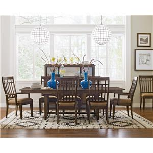 Kincaid Furniture Bedford Park 9 Pc Trestle Table and Surrey Chairs Set