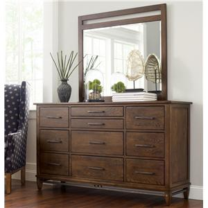 Kincaid Furniture Bedford Park Wheaton Dresser and Mirror