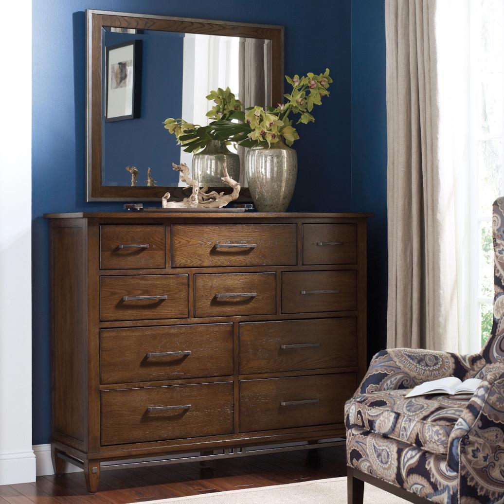 Kincaid Furniture Bedford Park Hammond Bureau and Mirror Set - Item Number: 74-161+118