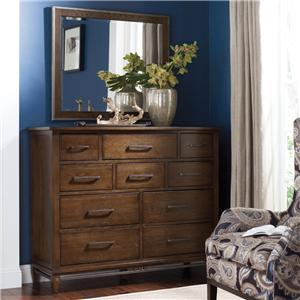 Kincaid Furniture Bedford Park Hammond Bureau and Mirror Set