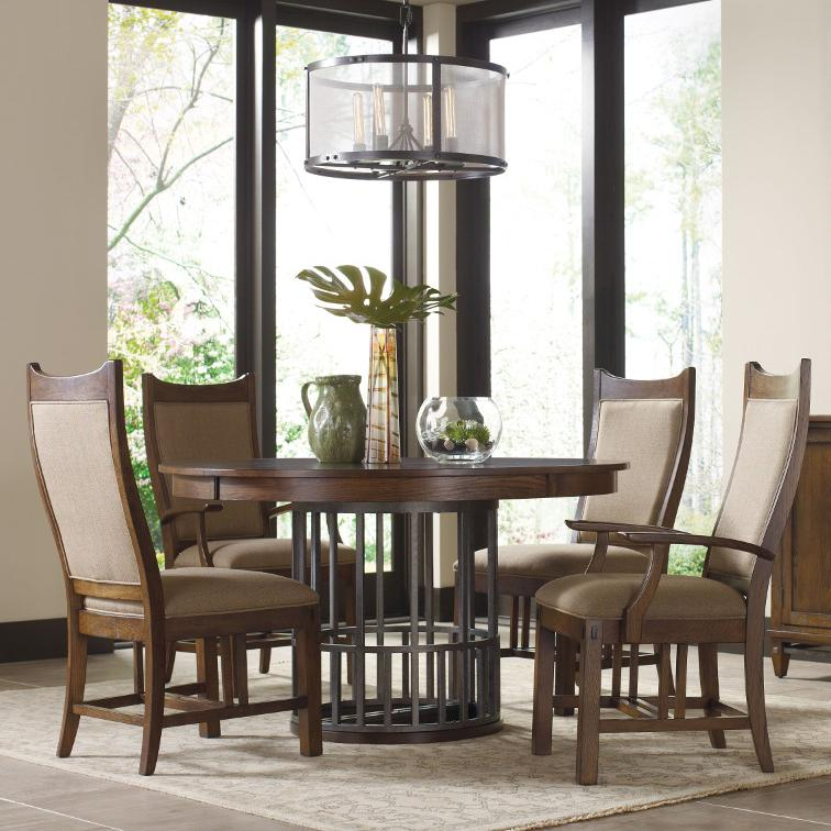 Kincaid Furniture Bedford Park 5 Pc Elements Table and Craftsman Chairs Set - Item Number: 74-52P+2X063+2X064