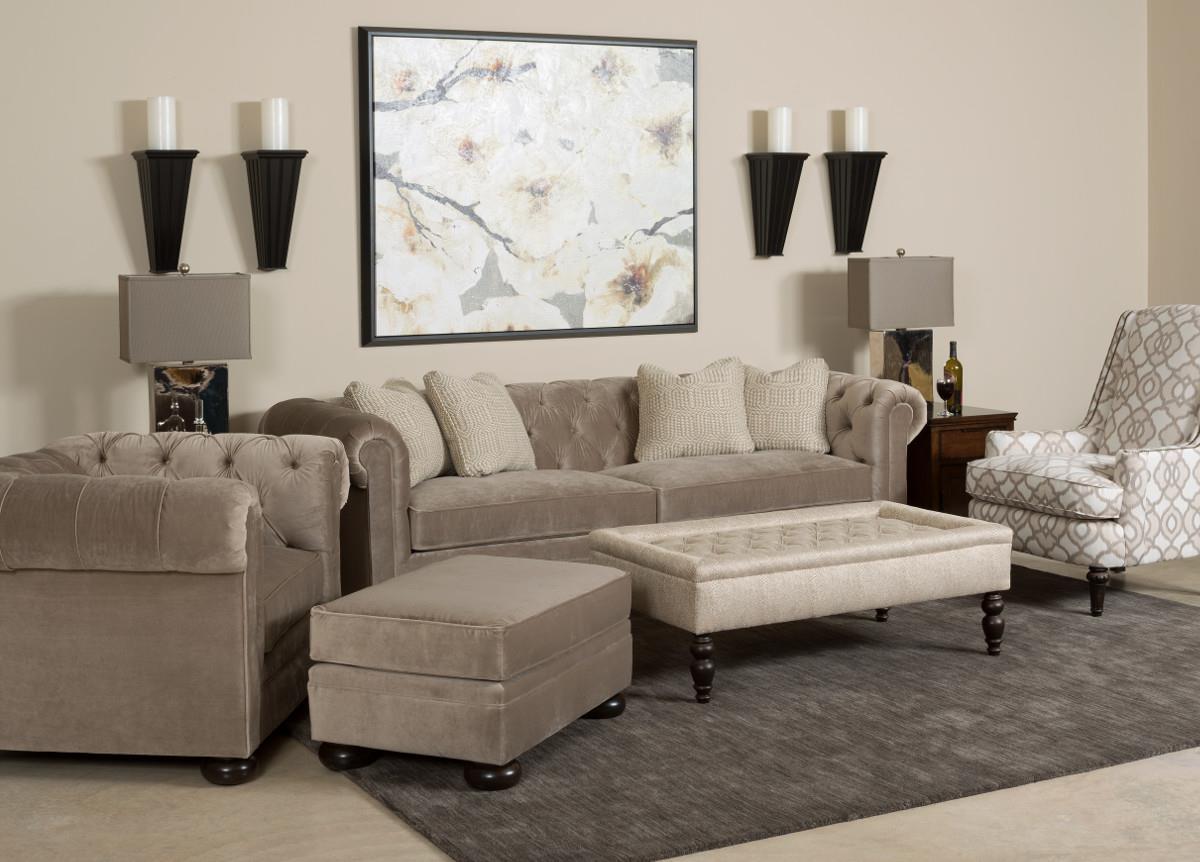 Kincaid Furniture Camden 685 86 Chesterfield Sofa With