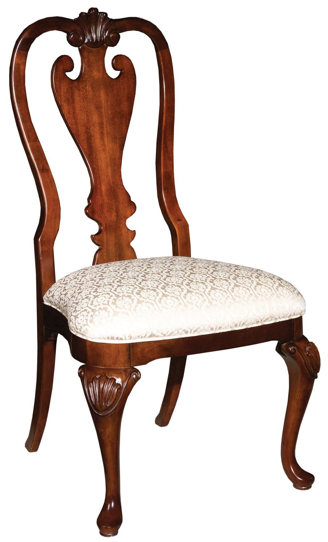 kincaid furniture carriage house queen anne side chair ahfa
