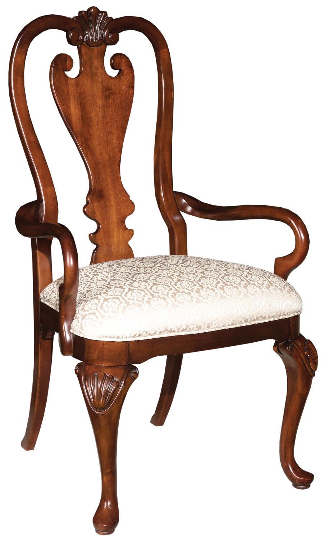 Kincaid Furniture Carriage House Queen Anne Arm Chair   AHFA   Dining Arm  Chair Dealer Locator