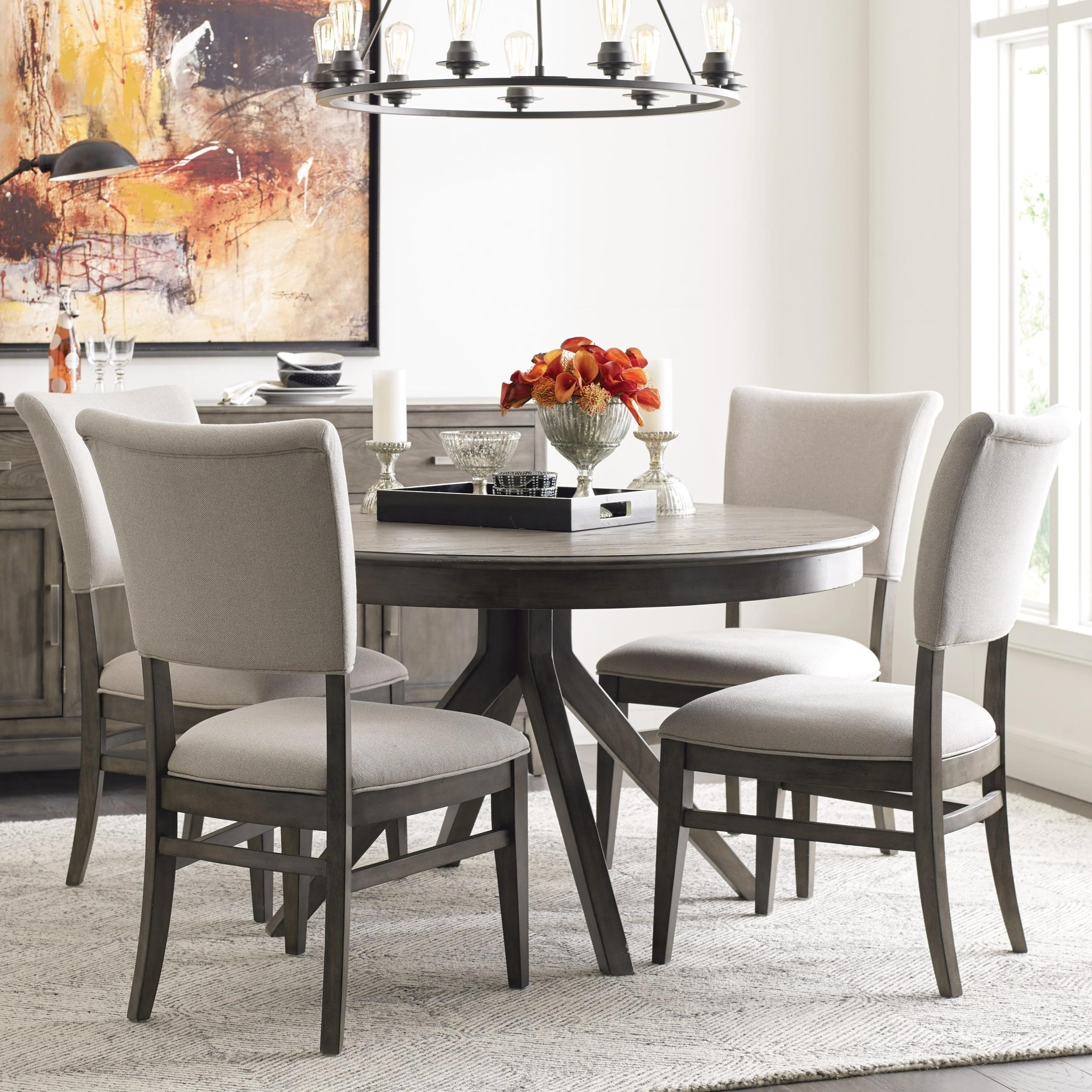 Cascade Dining Table Set with 4 Chairs by Kincaid Furniture at Johnny Janosik