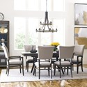 Kincaid Furniture Cascade Dining Table Set with 6 Chairs - Item Number: 863-744+2x637+4x636