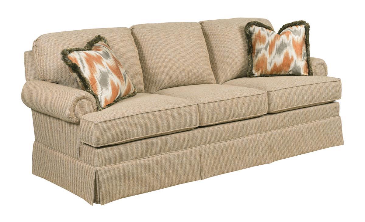 Kincaid Furniture Charlotte Stationary Skirted Sofa