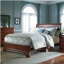 Kincaid Furniture Chateau Royale Queen Bed with Sleigh Headboard & Low Profile Footboard - Bed Shown May Not Represent Size Indicated