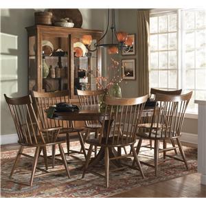 Kincaid Furniture Cherry Park 7 Piece Table & Chair Set