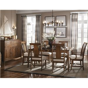 Kincaid Furniture Cherry Park 5 Piece Table & Chair Set