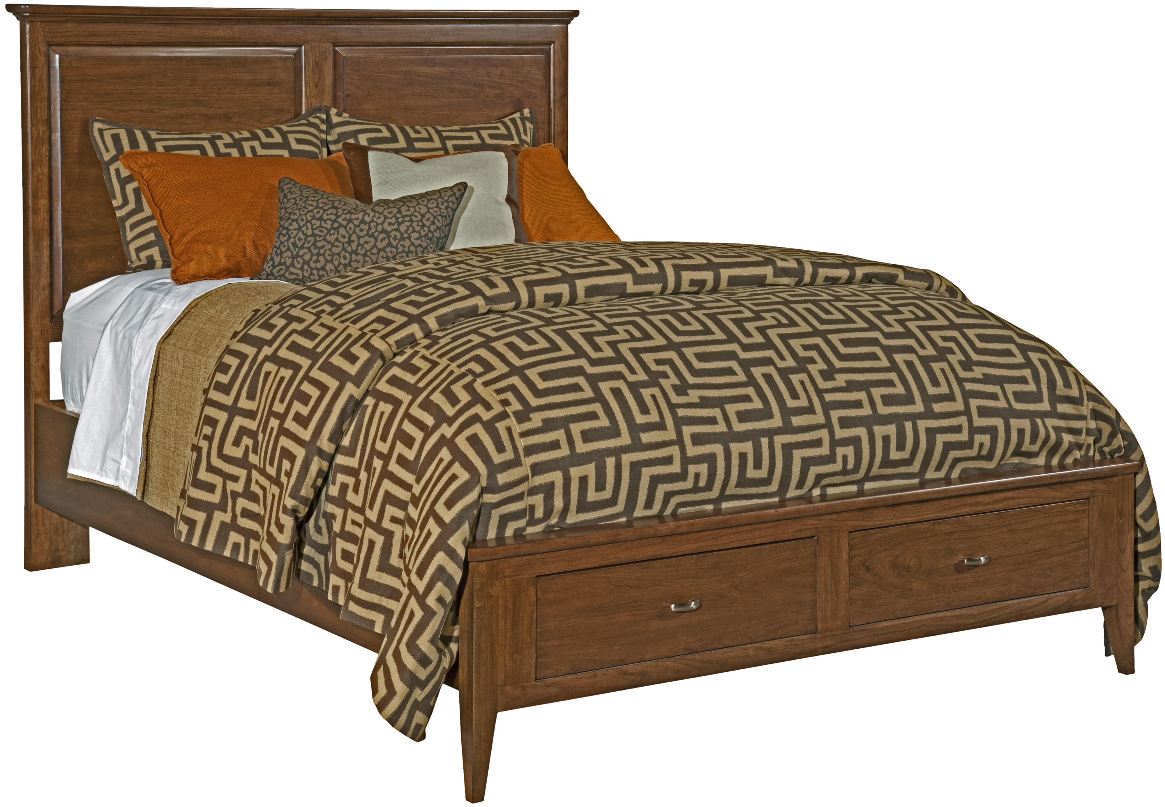 Cherry Park Queen Storage Panel Bed by Kincaid Furniture at Northeast Factory Direct