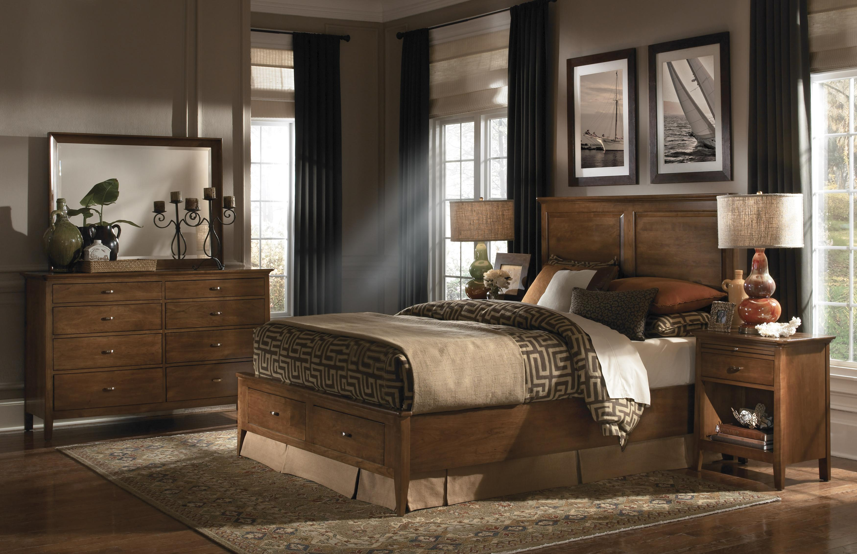 Kincaid furniture cherry park king size bed with panel - Kincaid bedroom furniture for sale ...