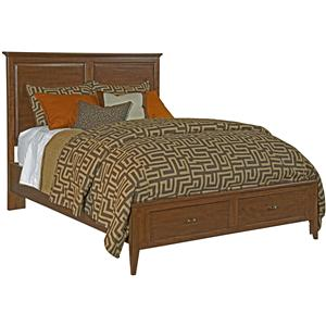 Kincaid Furniture Cherry Park Queen Storage Panel Bed