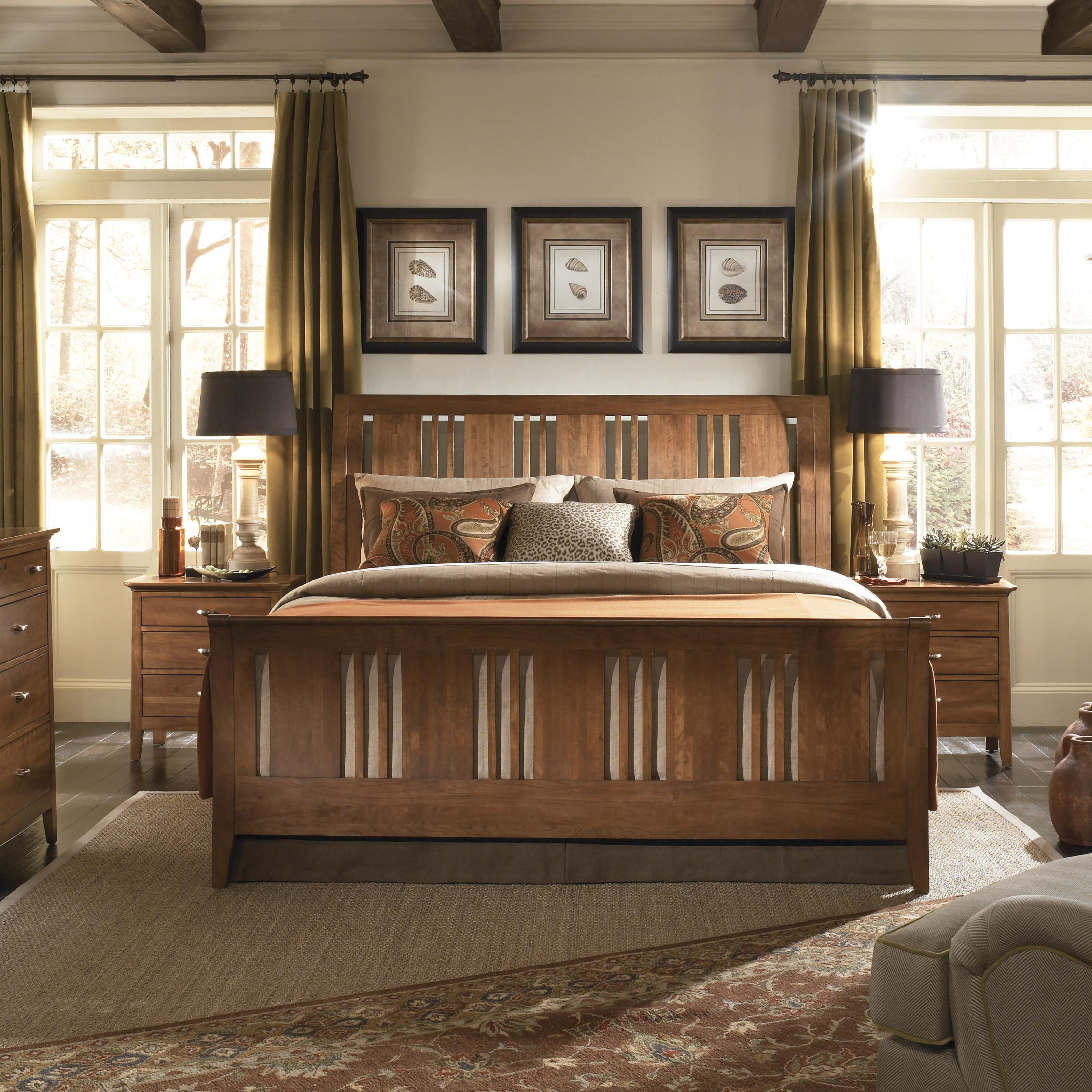Kincaid Furniture Cherry Park Queen Sleigh Bed - Item Number: 63-150H+F