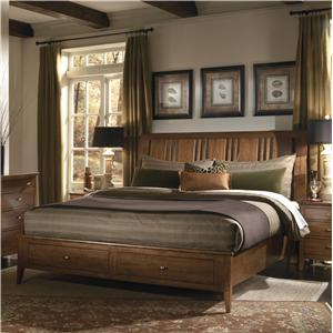 Kincaid Furniture Cherry Park Queen Storage Bed