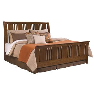 Kincaid Furniture Cherry Park King Sleigh Bed