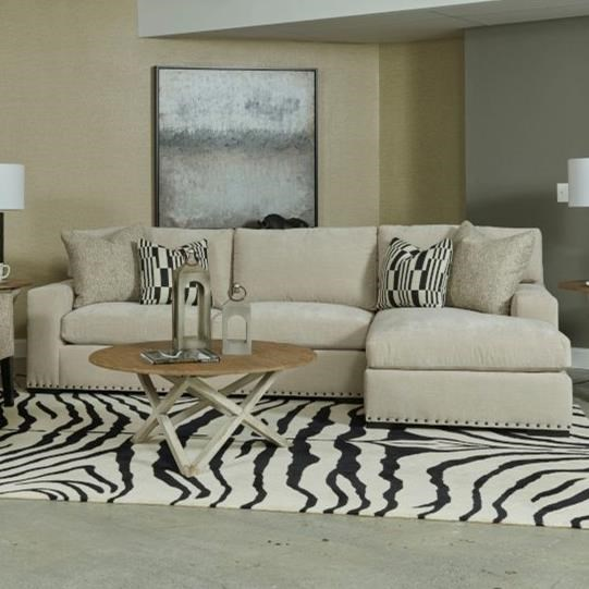 Comfort Select 3 Seat Sectional Sofa w/ Chaise by Kincaid Furniture at Johnny Janosik