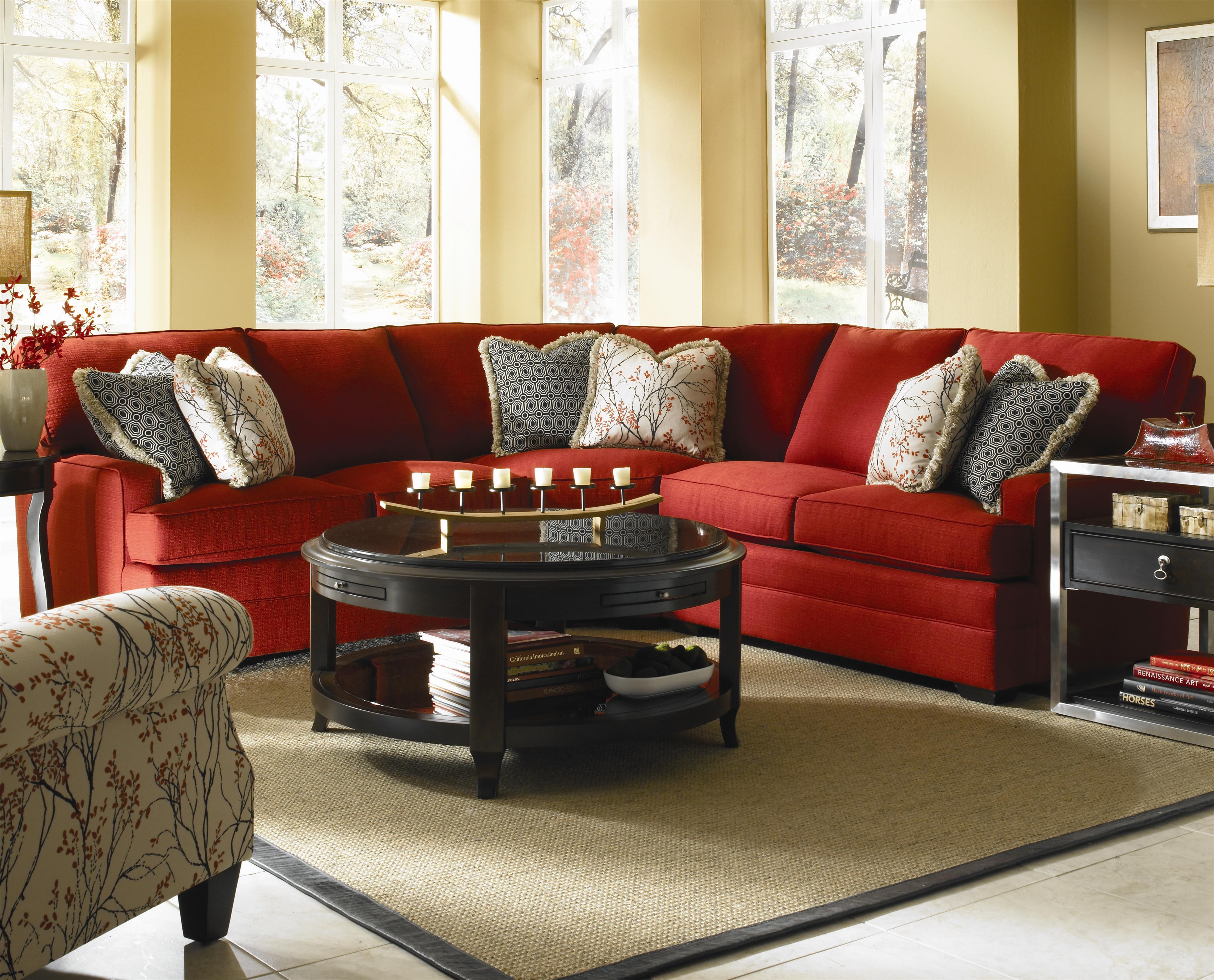 Custom Select Upholstery Custom 3 Piece Sectional Sofa By Kincaid Furniture