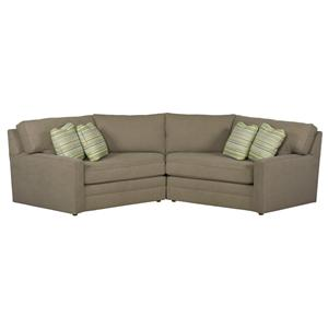 Kincaid Furniture Custom Select Upholstery Custom 2 Pc Sectional Sofa
