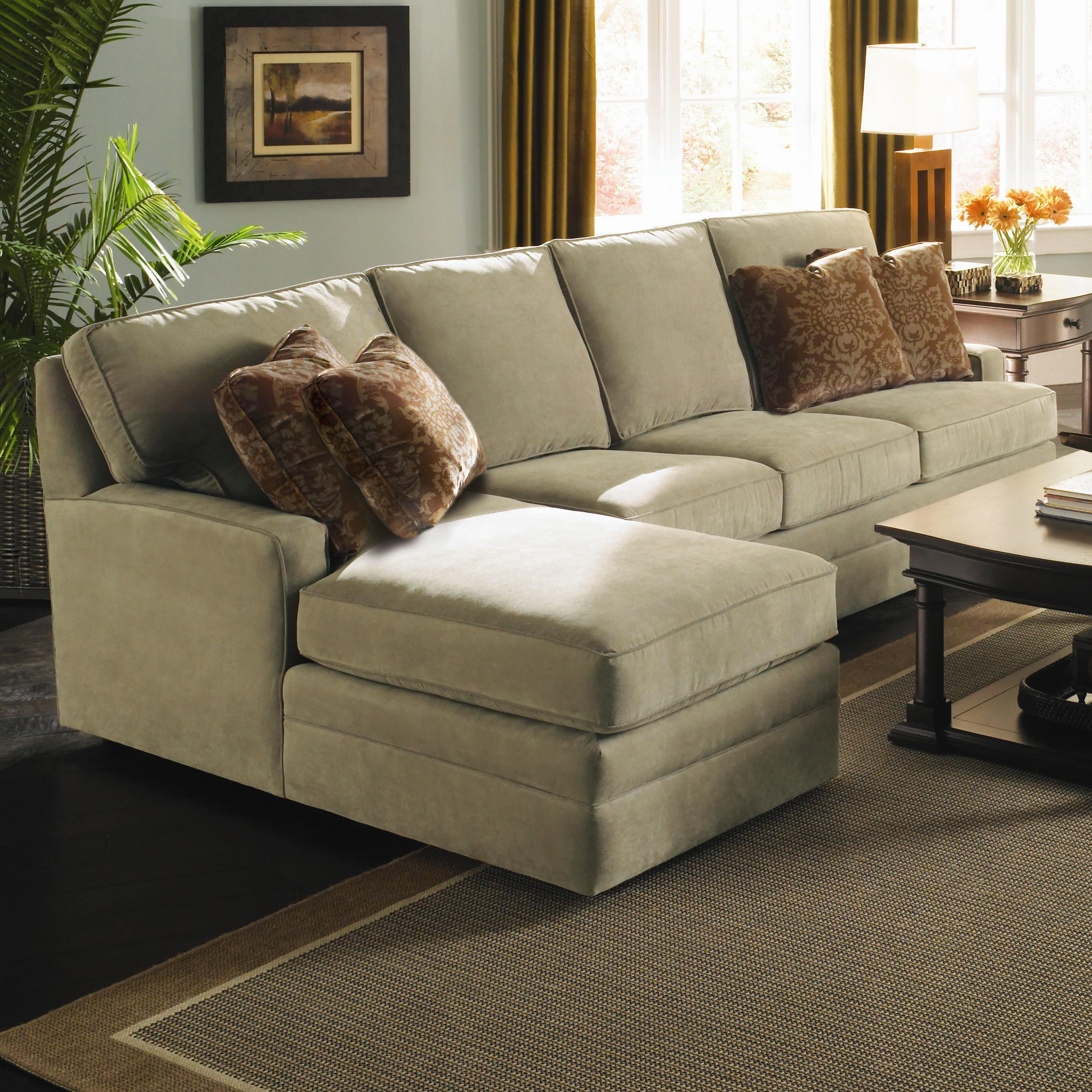 Custom Select Upholstery Custom 2 Piece Sectional With Chaise By Kincaid  Furniture