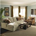 Kincaid Furniture Custom Select Upholstery Custom 2-Piece Sectional with Chaise - Shown with Chair