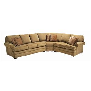 Kincaid Furniture Custom Select Upholstery Custom 3 Piece Sectional Sofa
