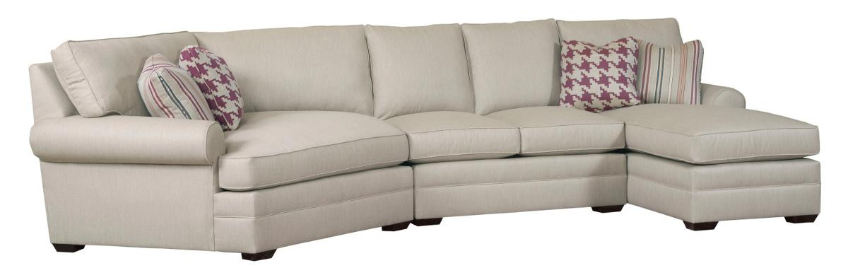 Custom Select Upholstery 3 Pc Custom Built Sectional Sofa by Kincaid Furniture at Johnny Janosik