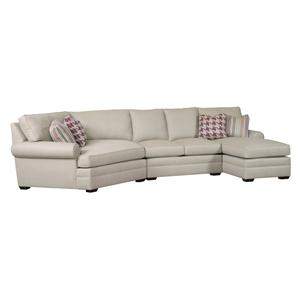 3 Pc Custom Built Sectional Sofa