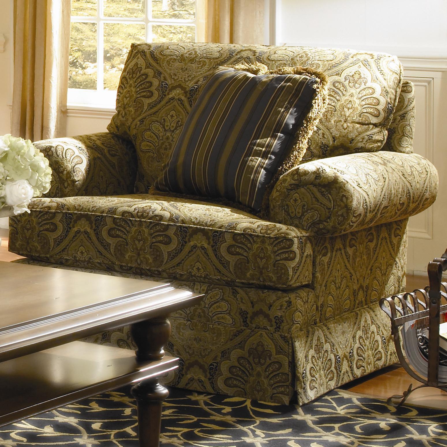 Custom Select Upholstery Custom Upholstered Chair by Kincaid Furniture at Johnny Janosik