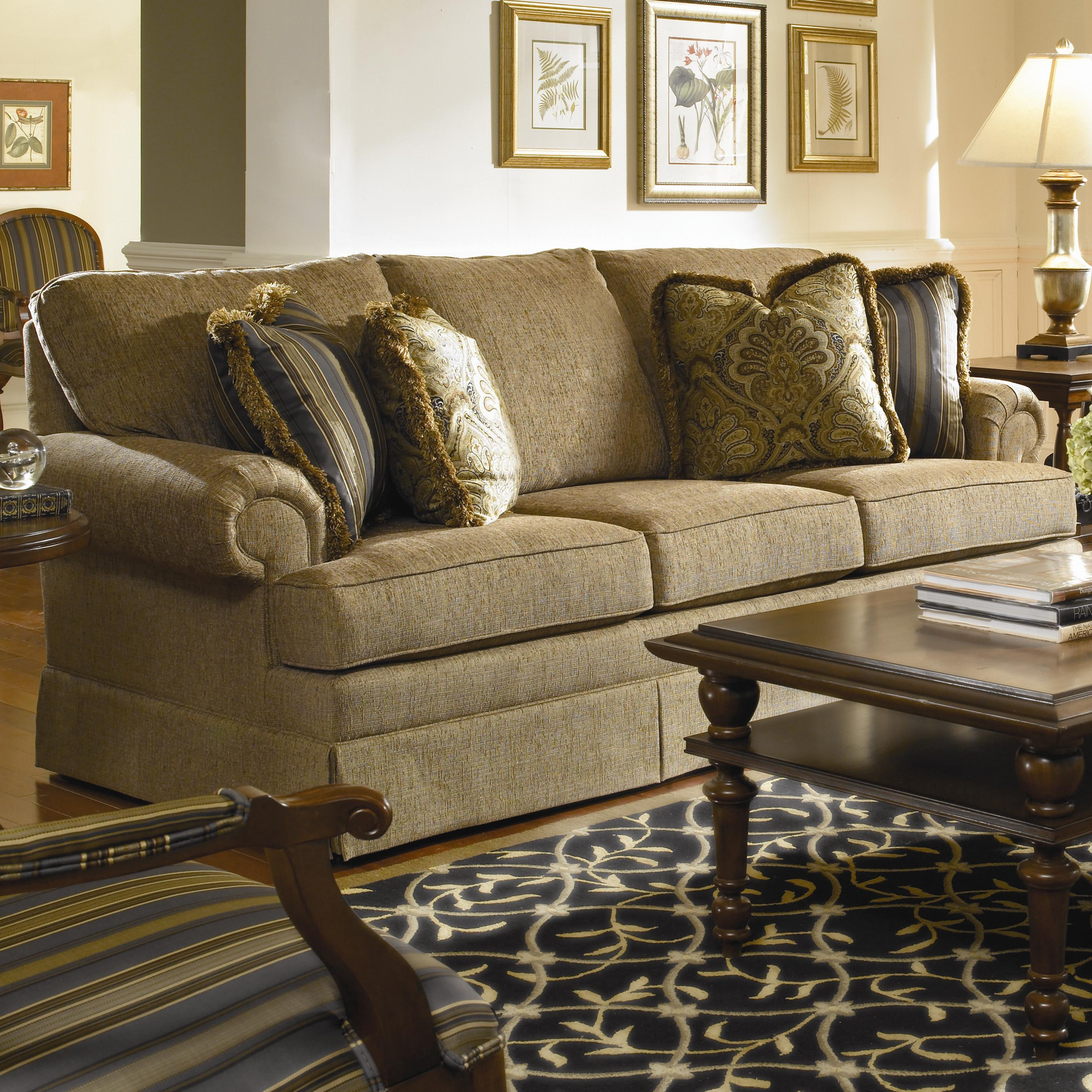 Custom Select Upholstery Custom 3-Seat Sofa by Kincaid Furniture at Johnny Janosik