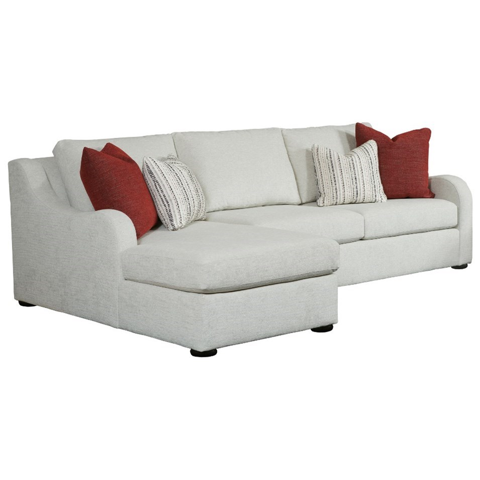 Custom Select Upholstery Chaise Sofa by Kincaid Furniture at Johnny Janosik