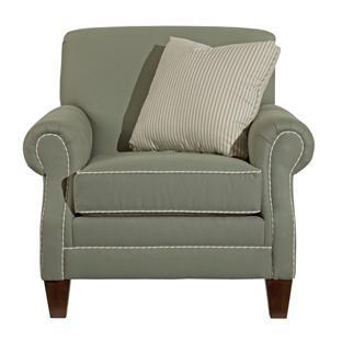 Kincaid Furniture Destin 210 84 Upholstered Rolled Arm Chair Becker Furniture World