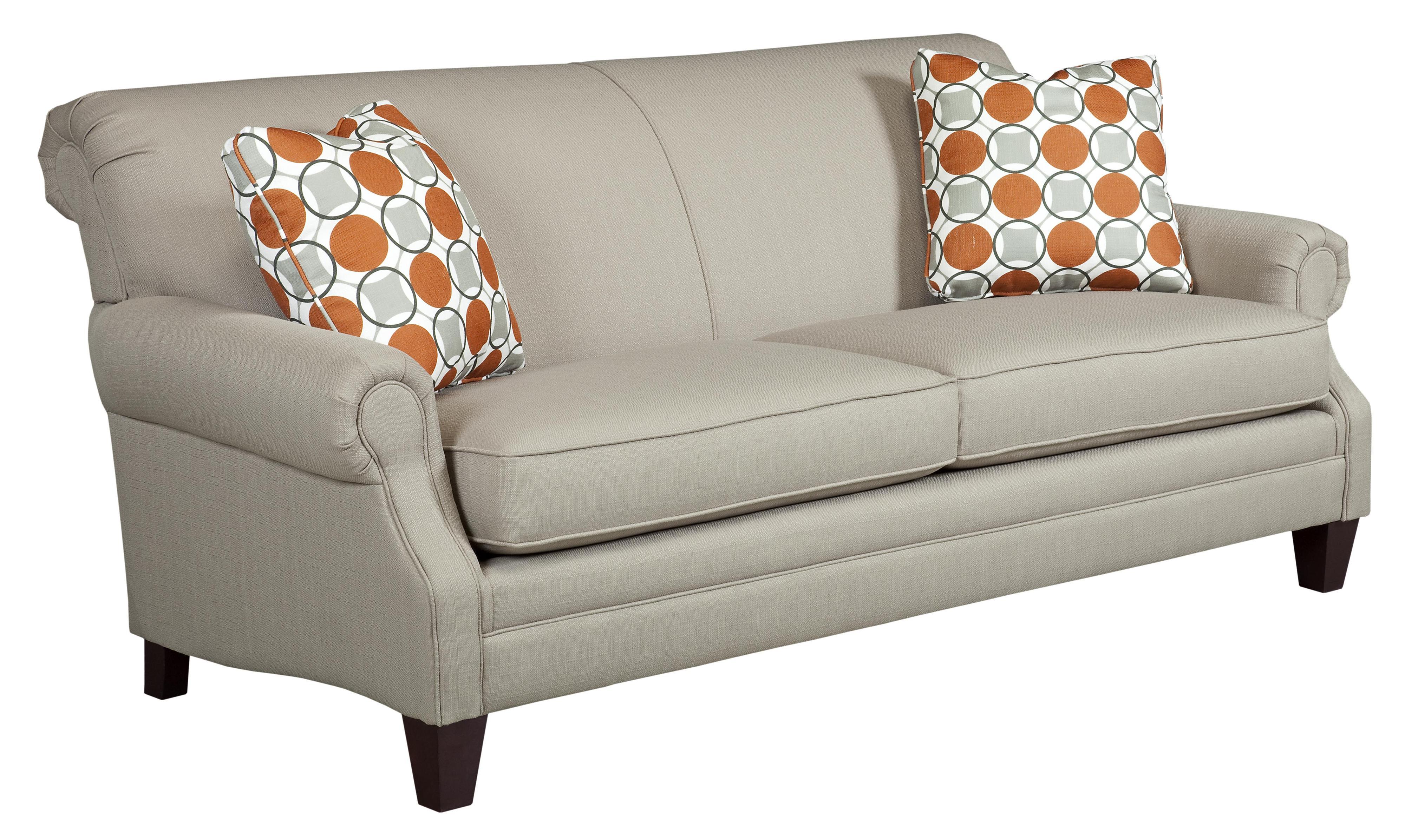 Kincaid Furniture Destin Rolled Arm Stationary Sofa Johnny Janosik Sofa