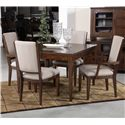 Kincaid Furniture Elise Five Piece Dining Set with Upholstered Chairs - 77-054+2x77-061+2x77-062