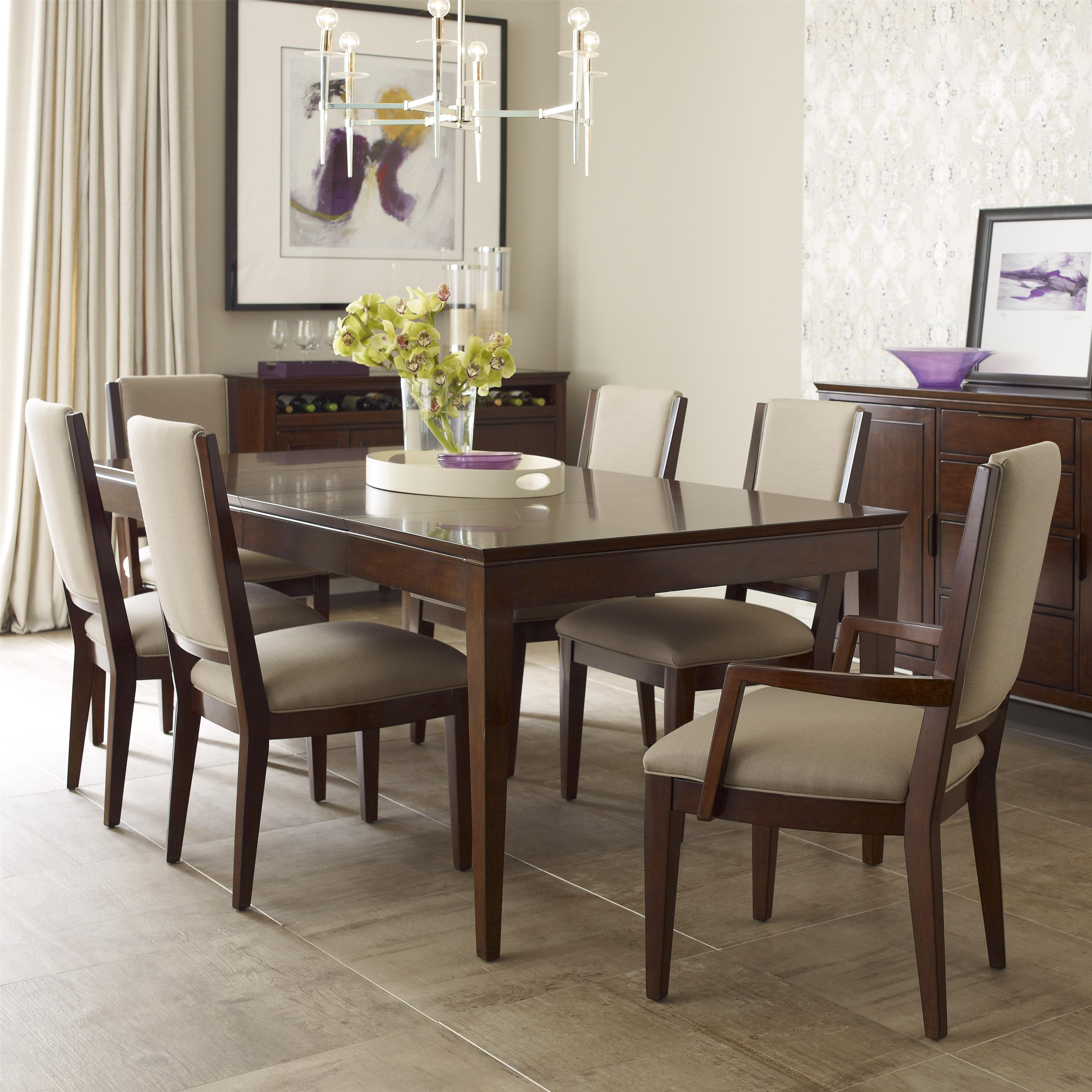 Kincaid Dining Room Set: Kincaid Furniture Elise Seven Piece Dining Set With Upholstered Chairs