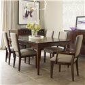 Kincaid Furniture Elise Seven Piece Dining Set with Upholstered Chairs - 77-054+4x77-061+2x77-062
