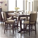 Kincaid Furniture Elise 7 Pc Counter Height Dining Set - Item Number: 77-059+6x77-067