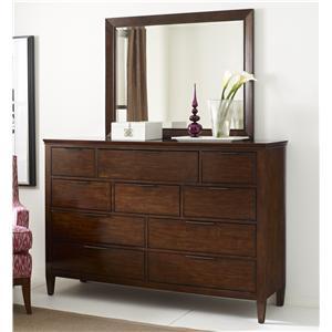 Kincaid Furniture Elise Luccia Bureau and Mirror Set