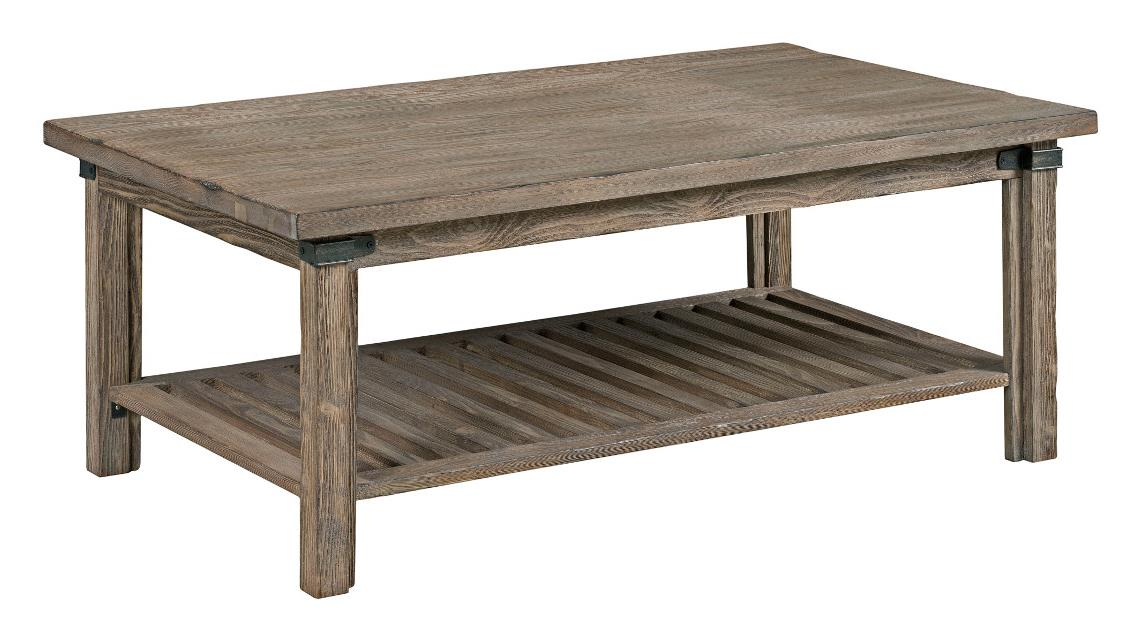 Kincaid Furniture Foundry 59 023 Rustic Weathered Gray Rectangular Cocktail Table Becker