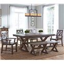 Kincaid Furniture Foundry 6 Pc Dining Set - Item Number: 59-056+069+2X061+2X062