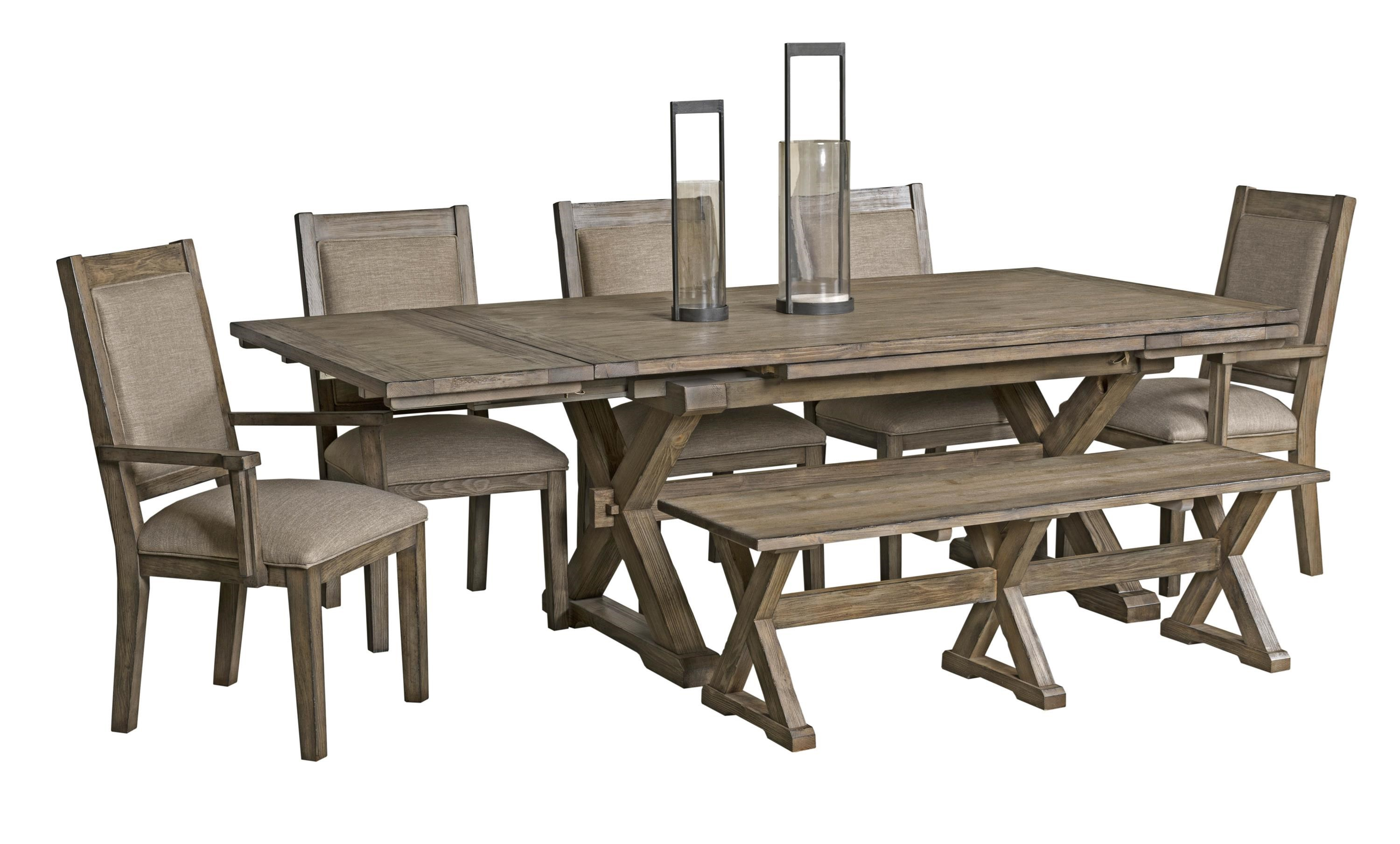 Kincaid Furniture Foundry 5 Piece Table & Chair Set with Leaves - Item Number: 59-056+069+4X063