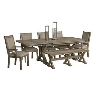 5 Piece Table & Chair Set with Leaves