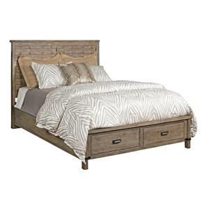 Kincaid Furniture Foundry Queen Panel Bed with Storage Footboard