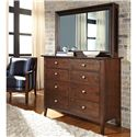 Kincaid Furniture Gatherings Albany Bureau with 7 Drawers and  1 Flip Down Drawer - 44-1021