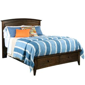 Kincaid Furniture Gatherings Queen Arch Bed with Storage Footboard