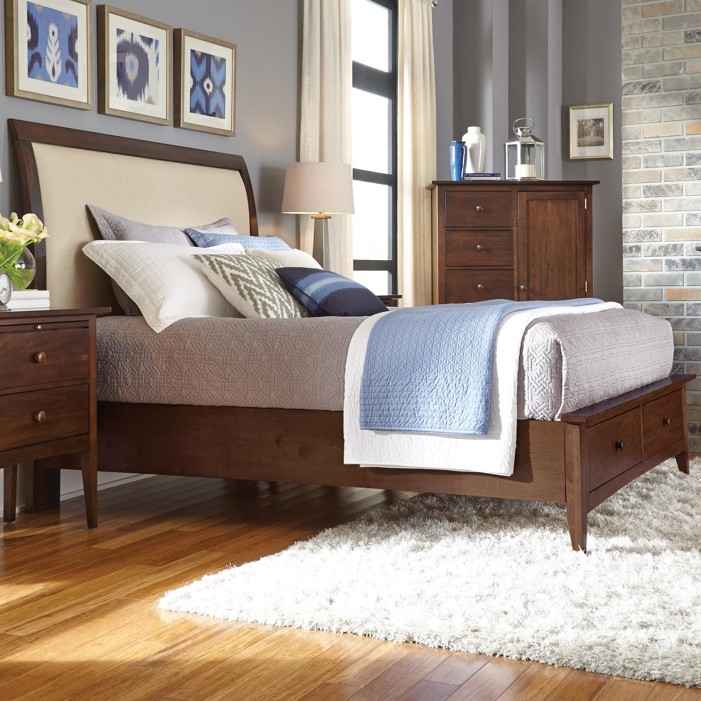Kincaid Furniture Gatherings Queen Meridian Bed With Storage Footboard    AHFA   Upholstered Bed Dealer Locator