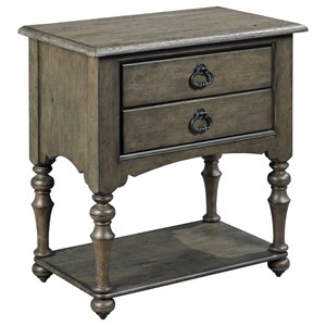 Kincaid Furniture Greyson Tyler Two Drawer Open Nightstand