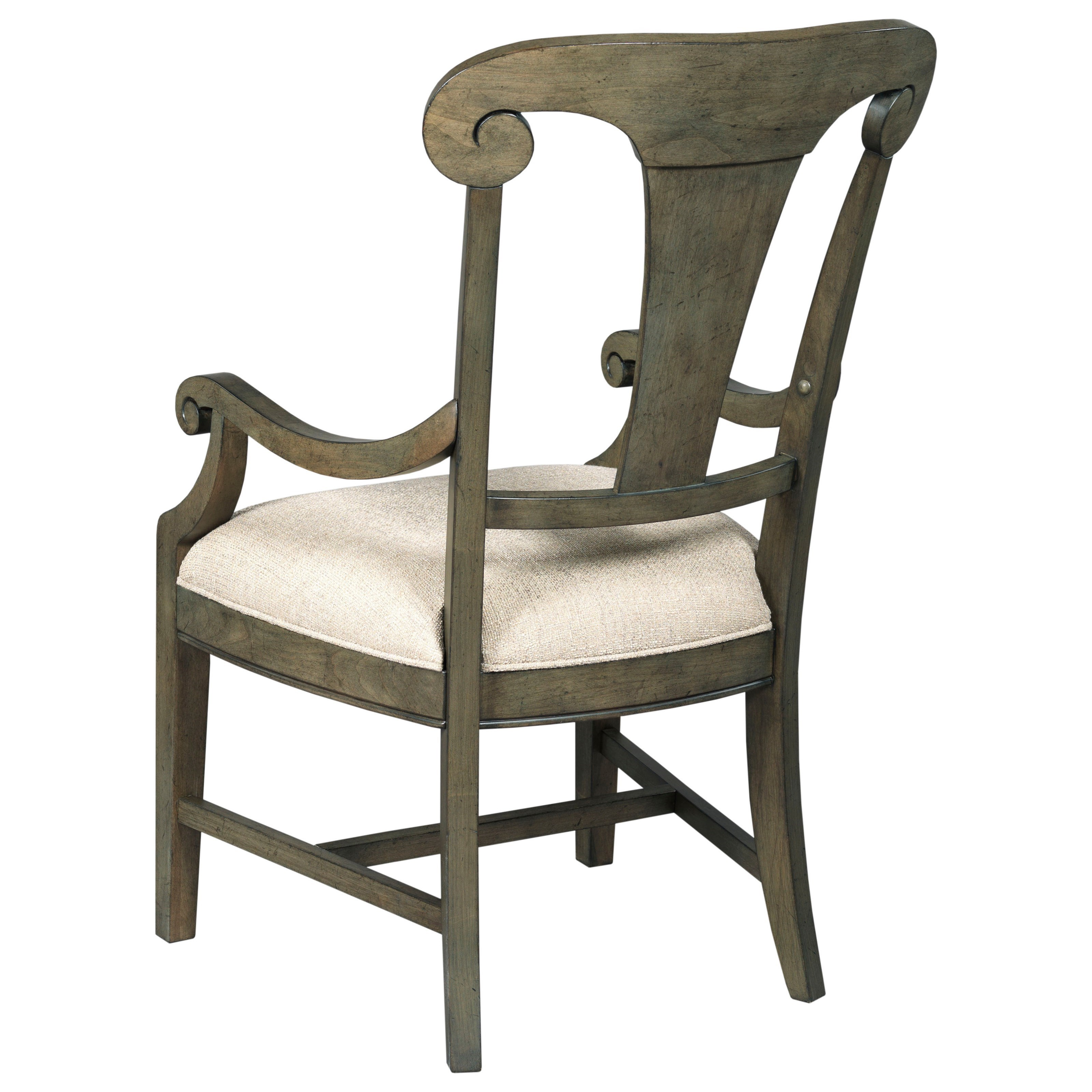Kincaid Furniture Greyson Fulton Splat Back Arm Chair With Upholstered Seat Jacksonville