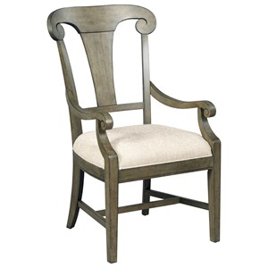 Kincaid Furniture Greyson Fulton Splat Back Arm Chair